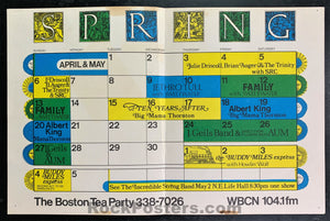 AUCTION - Boston Tea Party - Howlin Wolf Big Mama Thornton - 1969 Calendar Poster - Very Good