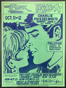 AUCTION - Charlie Musselwhite - 1968 Original Poster - The Bank - Condition - Excellent