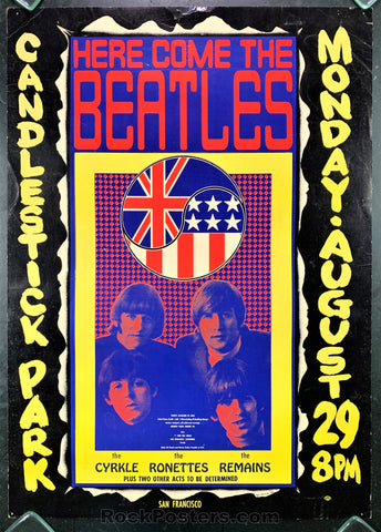 AUCTION - AOR1.115 - Beatles 1966 Final Concert Original Poster Candlestick Park  - Condition - Excellent