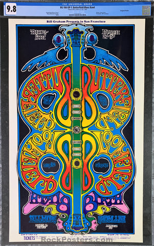 AUCTION - BG-166 - Butterfield Blues Band - 1969 Poster - Fillmore West - CGC Graded 9.8