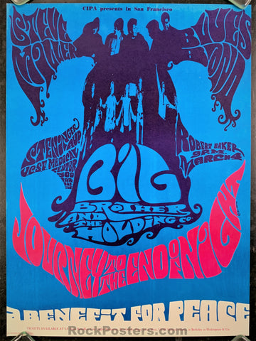 AUCTION - Janis Joplin Big Brother 1967 Poster - UCSF - Condition - Near Mint