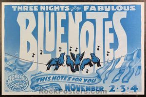 AUCTION - Neil Young - Blue Notes Jim Phillips Signed 1987 Santa Cruz  Poster - Coconut Grove - Condition - Mint