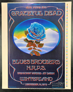 AUCTION - AOR 4.38 -  Grateful Dead Blue Rose Double SIGNED Mouse & Kelley Original Poster - Condition - Near Mint Minus