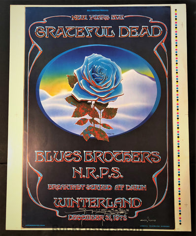 AUCTION - AOR 4.38 - Grateful Dead Blue Rose - Mouse  SIGNED Uncut Poster - Excellent