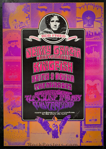 AUCTION - Alton Kelley Collection - Bob Fried Memorial Boogie 1975 Poster - Kelley Signed - Winterland - Condition - Near Mint Minus