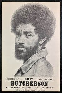 AUCTION - Jazz - Bobby Hutcherson 1972 Poster -  Keystone Korner - Condition - Excellent