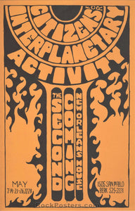 AUCTION - Second Coming Berkeley 1967 Handbill - New Orleans House - Condition - Near Mint Minus