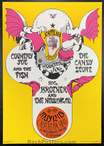 AUCTION - Big Brother - Janis Joplin 1967 Original Poster - California Hall - Condition - Near Mint Minus