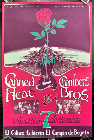 AUCTION - AOR-PG 330 - Canned Heat Chambers Bros. - 1973 Poster -  Bogota Colombia -  Near Mint Minus