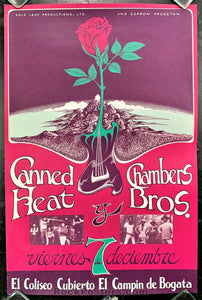 AOR-PG 330 - Canned Heat Chambers Bros. Bogota Colombia 1973 Poster - Gary Grimshaw - Near Mint Minus