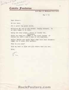 AUCTION - Drugs - Timothy Leary SIGNED Letter to Peter H. John 1965 - Castalia Foundation - Excellent