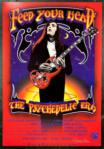 Feed Your Head Movie Poster - The Pyychedelic Era - Randey Tuten Signed - Rock & Roll Hall of Fame - Condition - Near Mint Minus