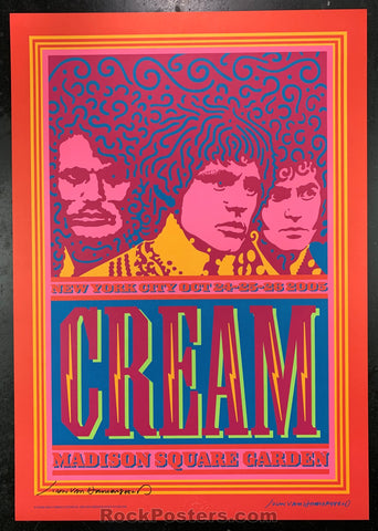 AUCTION - Cream  -  Artist SIGNED 2005 Poster - Madison Square Garden - Condition - Near Mint