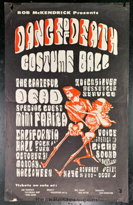 AUCTION - AOR-2.143 - Grateful Dead Dance of Death 1966 Poster - California Hall -  Very Good