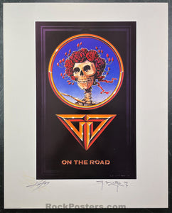 AUCTION - Alton Kelley Collection - Grateful Dead -  On The Road Poster - Mouse Kelley Double Signed - Near Mint