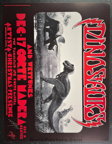 AUCTION - Alton Kelley Collection - Dinosaurs - Kelley Signed - 1983 Poster  - Corte Madera - Excellent