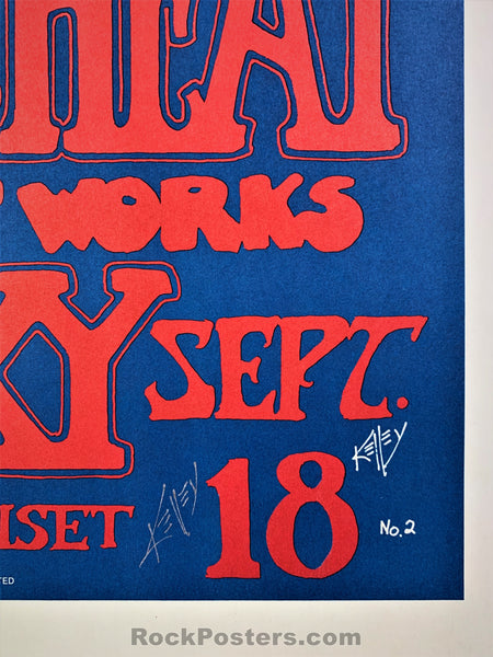 AUCTION - Alton Kelley Collection - Dinosaurs 1982 Poster - Kelley Signed - Roxy Theater - Condition - Excellent