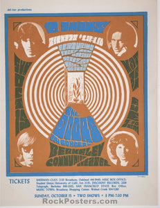 AUCTION - The Doors - 1967 Handbill - Berkeley Community Theater - Near Mint