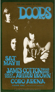 AUCTION - The Doors - Detroit 1968 Original Handbill - Cobo Arena  - Condition - Near Mint