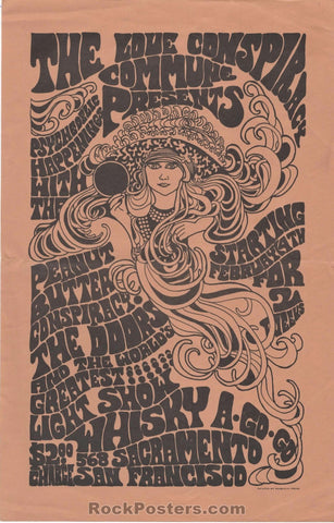 AUCTION - AOR-2.195 - The Doors 1967 Handbill - SF Whisky-A-Go-Go - Excellent