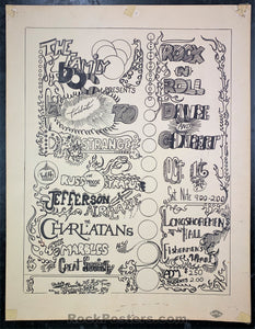 AOR-2.8 - Tribute to Dr.Strange - Jefferson Airplane 1965 Board Poster - Longshoremen's Hall - Very Good