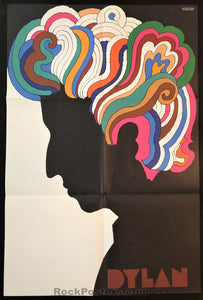 AUCTION - Bob Dylan - Milton Glaser 1967 Original Poster - Condition - Near Mint Minus