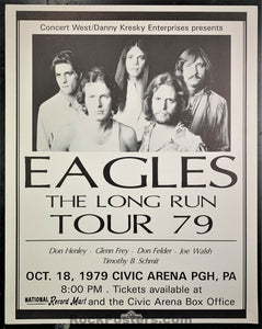 The Eagles - The Long Run - 1979 Poster - Civic Arena, PA - Very Good