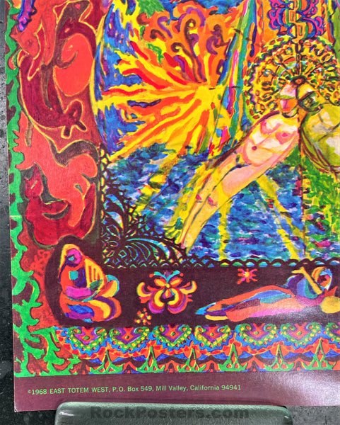 AUCTION - Psychedelic - East Totem West - 1968 Poster - Excellent