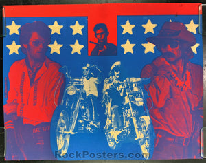 AUCTION - Easy Rider - 1969  Psychedelic Silkscreen Poster - Condition - Excellent