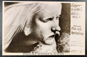 AUCTION - Texas  - Edgar Winter White Trash Original Poster - Armadillo World HQ - Condition - Near Mint Minus