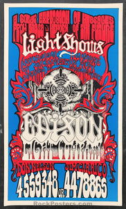 AUCTION - Edison Light Co. - Sacramento 1967 Psychedelic Light Show Handbill - Condition - Excellent