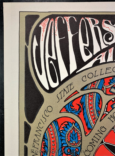 AUCTION - AOR 2.81 - Jefferson Airplane Edwardian Ball 1966 Poster - Fillmore Auditorium - Condition - Excellent