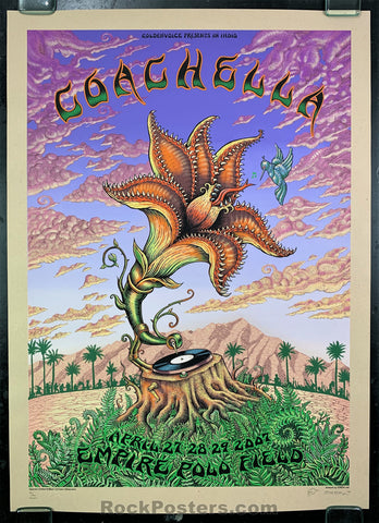 AUCTION - Emek - Coachella '07 Silkscreen - Kraft Variant Edition - Condition - Near Mint