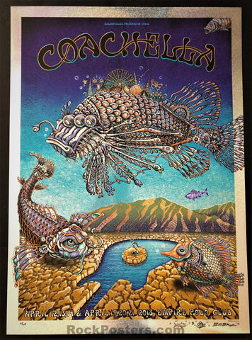 AUCTION - Emek - Coachella '13 Silkscreen - Blue Glitter Foil Edition of 15 - Mint