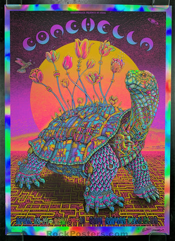 AUCTION - Emek Coachella  - '19 Silkscreen  Magenta Foil/Yellow Sun Variant Edition of 25 - Condition - Mint