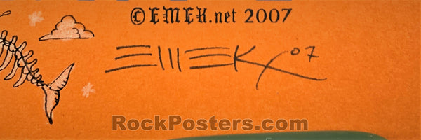 AUCTION - Emek - The Decemberists Amsterdam '07 - Autumn Variant Silkscreen - Edition of 15 - Condition - Near Mint