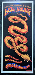 AUCTION - Emek - Neil Young & Crazy Horse Poster - Greek Theater - Condition - Near Mint