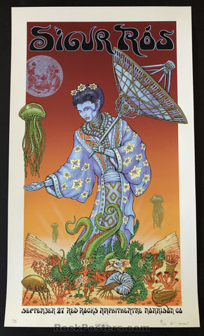 AUCTION - Emek - Sigur Ros Morrison '08 - Sunset Variant Silkscreen - Edition of 30 - Condition - Mint