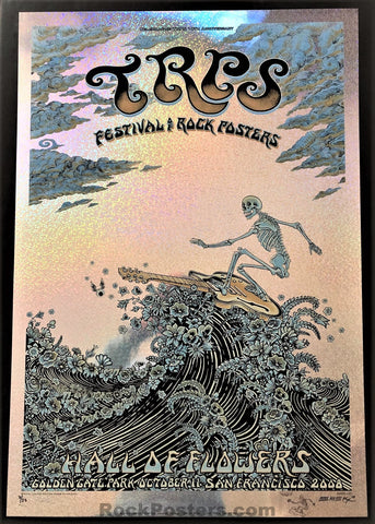 AUCTION - Emek - TRPS '08 The Rock Poster Society San Francisco - Sparkle Foil Edition of 25 - Mint