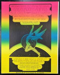 AUCTION - Palm Springs Pop Fest. - Bob Masse 1968  Poster  - Sunnair Drive-In - Condition - Very Good