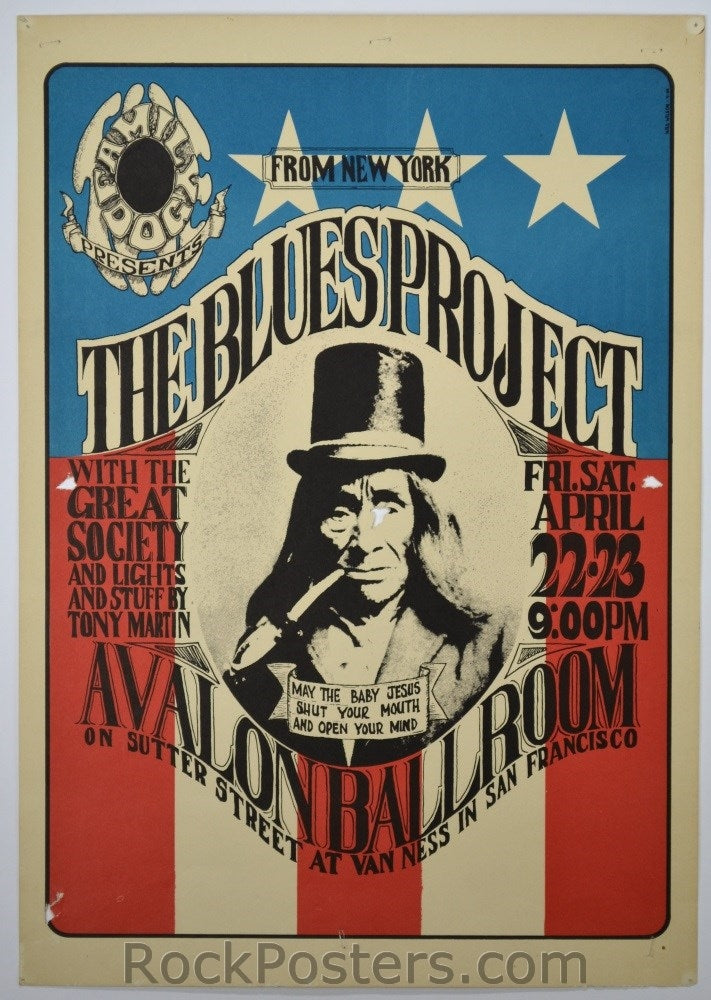 FD5 - Blues Project Poster - Avalon Ballroom (22&23-Apr-66) Condition - Very Good