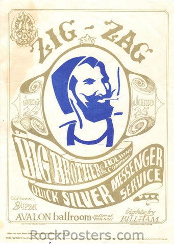 FD14 - Big Brother & The Holding Company Handbill - Avalon Ballroom (24-Jun-66) Condition - Near Mint