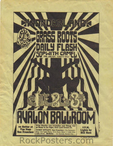 FD15 - Grass Roots Handbill - Avalon Ballroom (01-Jul-66) Condition - Excellent