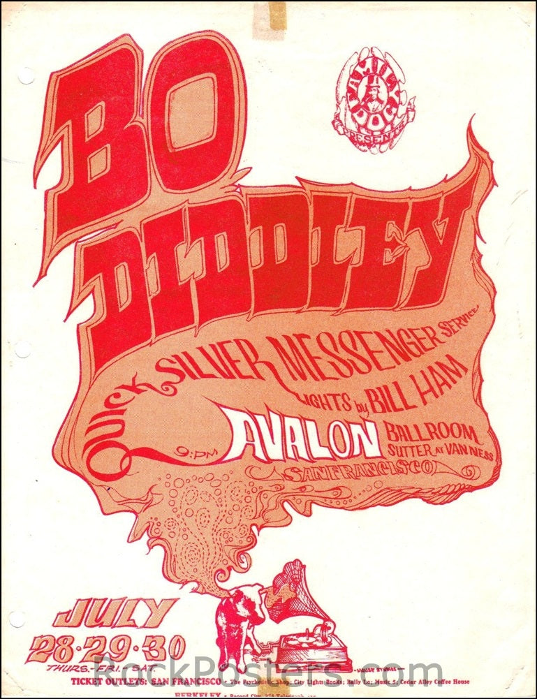 FD18 - Bo Diddley Handbill - Avalon Ballroom (28-Jul-66) Condition - Excellent