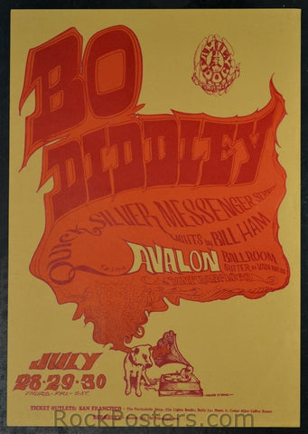 FD18 - Bo Diddley Poster - Avalon Ballroom (28-Jul-66) Condition - Excellent