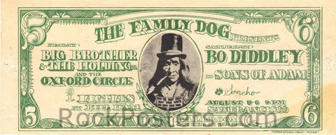 FD19 - Big Brother & The Holding Company Handbill - Avalon Ballroom (05-Aug-66) Condition - Excellent