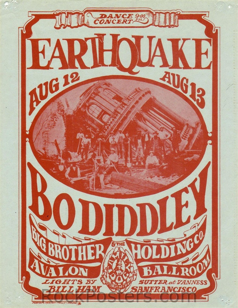 FD21 - Bo Diddley Handbill - Avalon Ballroom (12-Aug-66) Condition - Excellent