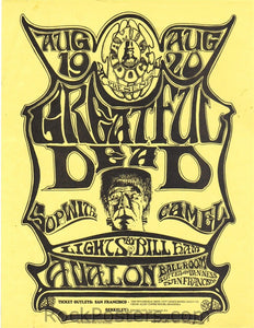 FD22 - The Grateful Dead Handbill - Avalon Ballroom (19-Aug-66) Condition - Near Mint