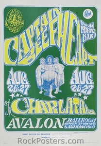 FD23 - Captain Beefheart & His Magic Band Poster - Avalon Ballroom (26-Aug-66) Condition - Near Mint