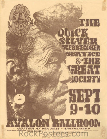 FD25 - Quicksilver Messenger Service Handbill - Avalon Ballroom (09-Sep-66) Condition - Excellent